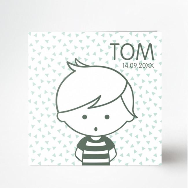 Geboortekaartje Jongen geboortekaartje Tom