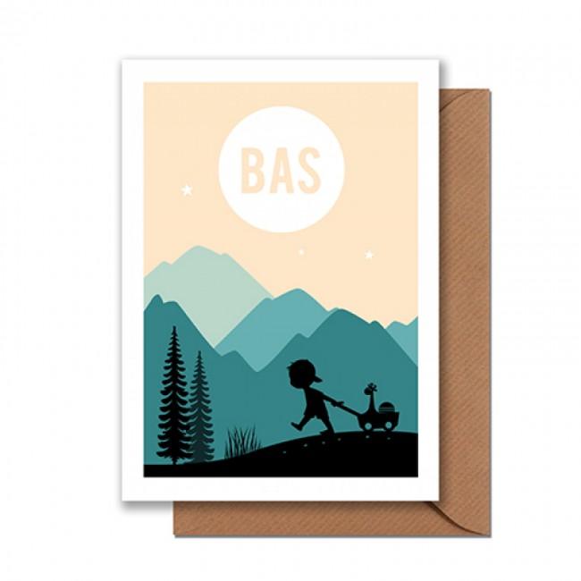 Geboortekaartje jongen in bergen