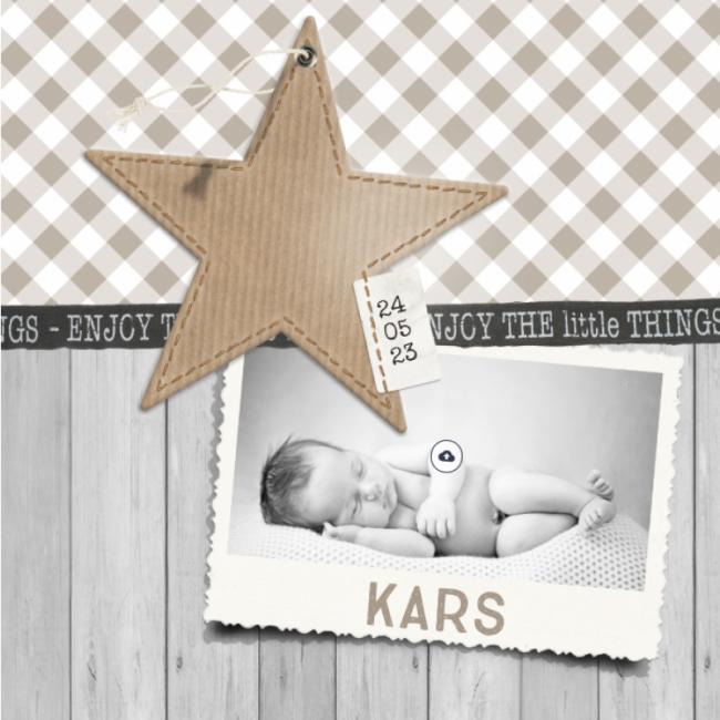 Geboortekaartje Jongen met foto