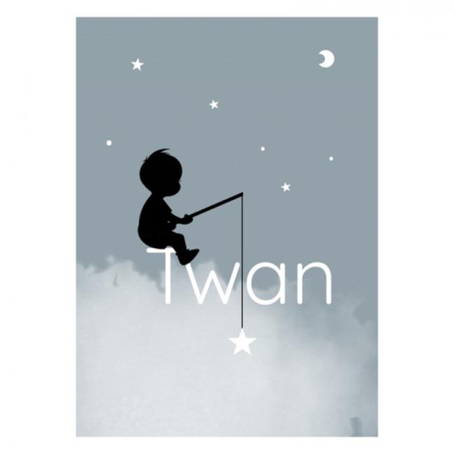 Geboortekaartje Jongen op een wolk