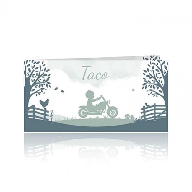 Geboortekaartje jongen op Harley Davidson