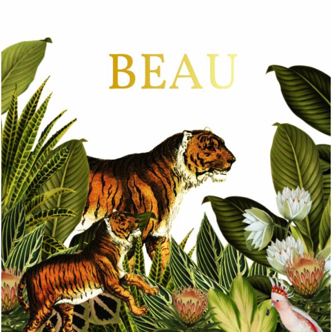 Geboortekaartje Jungle met Goudfolie