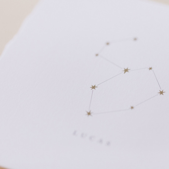 Geboortekaartje kaart met sterrenbeeld