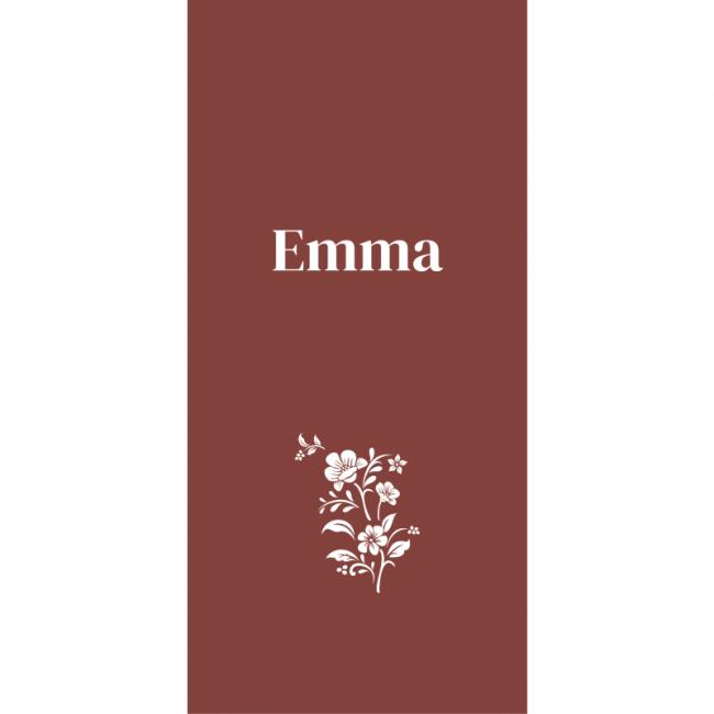 Geboortekaartje Kaartje met bloemen