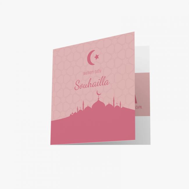 Geboortekaartje Kaartje moskee meisje
