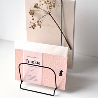 Geboortekaartje Kalkpapier  |  Frankie