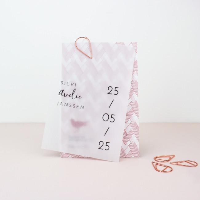 Geboortekaartje Kalkpapier geboortekaartje