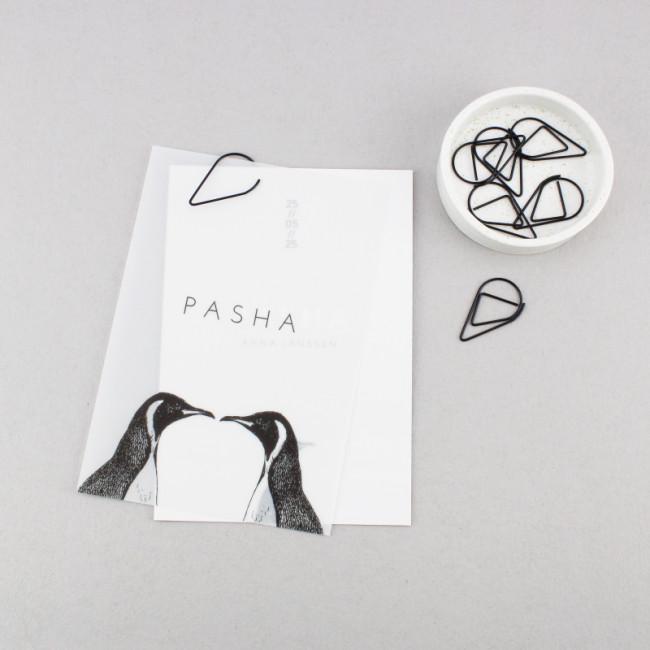 Geboortekaartje Kalkpapier label pinguins