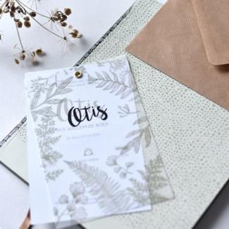 Geboortekaartje Kalkpapier  |  Otis