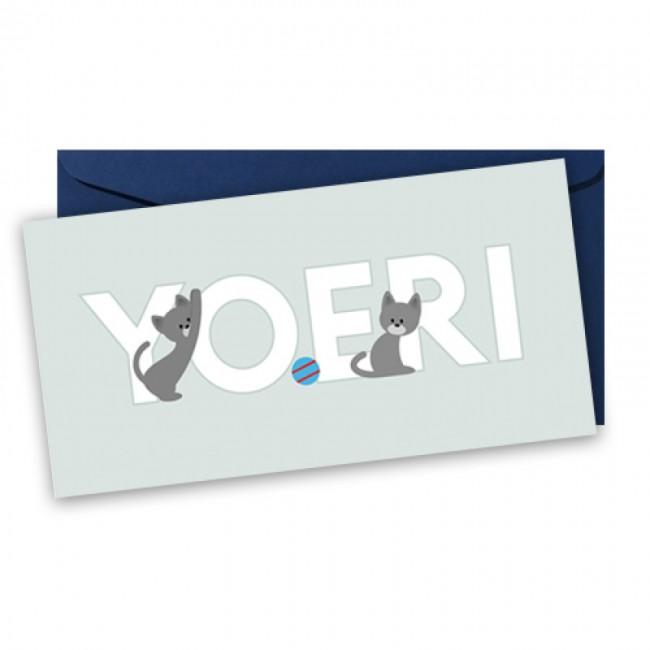 Geboortekaartje katten typografie