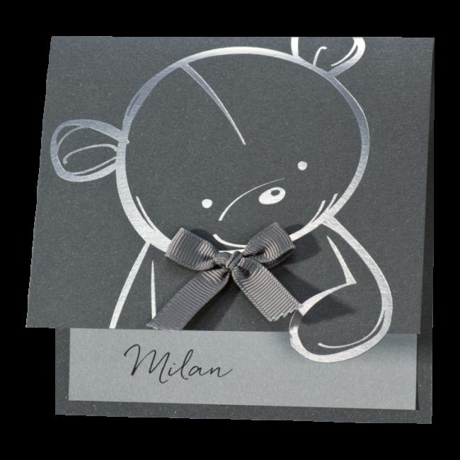 Geboortekaartje Klassiek Teddybeer