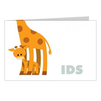 Geboortekaartje Kleine giraf