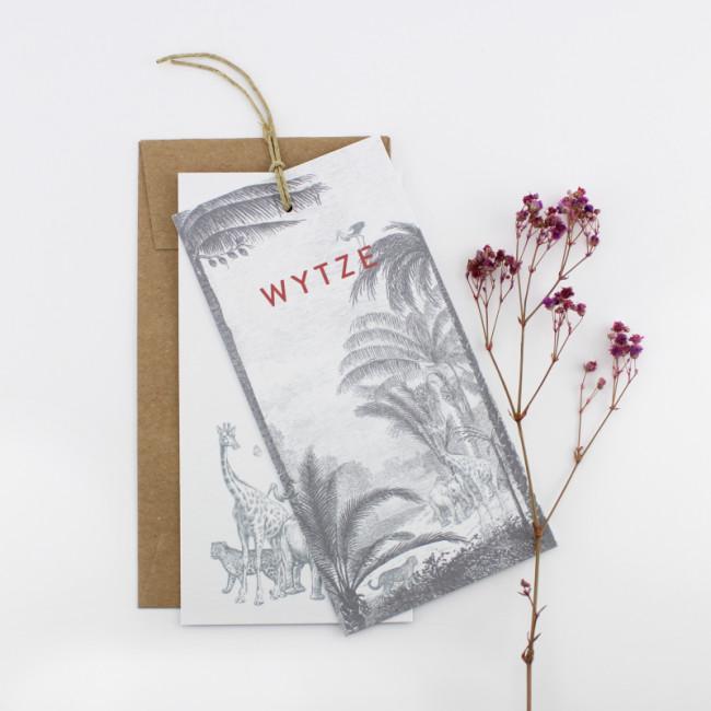 Geboortekaartje Kleine labels botanisch