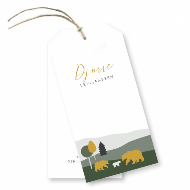 Geboortekaartje Label Djurre