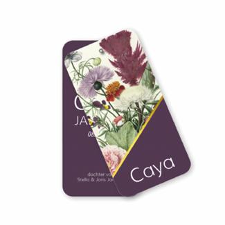 Geboortekaartje Label kaart - Caya