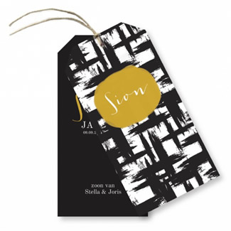 Geboortekaartje Label kaart - Sion