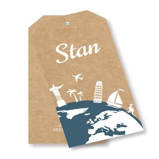 Geboortekaartje Label kaart - Stan