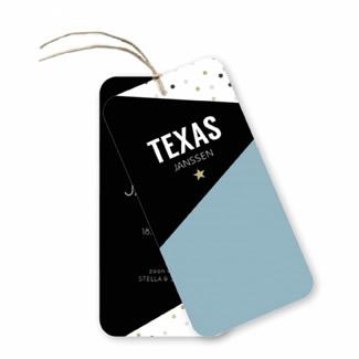 Geboortekaartje Label kaart - Texas
