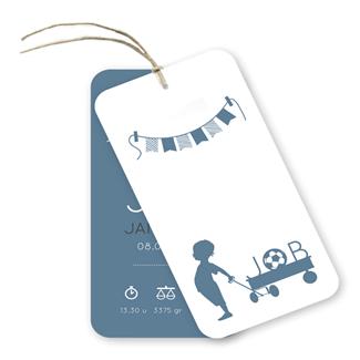 Geboortekaartje label kaartje - Job