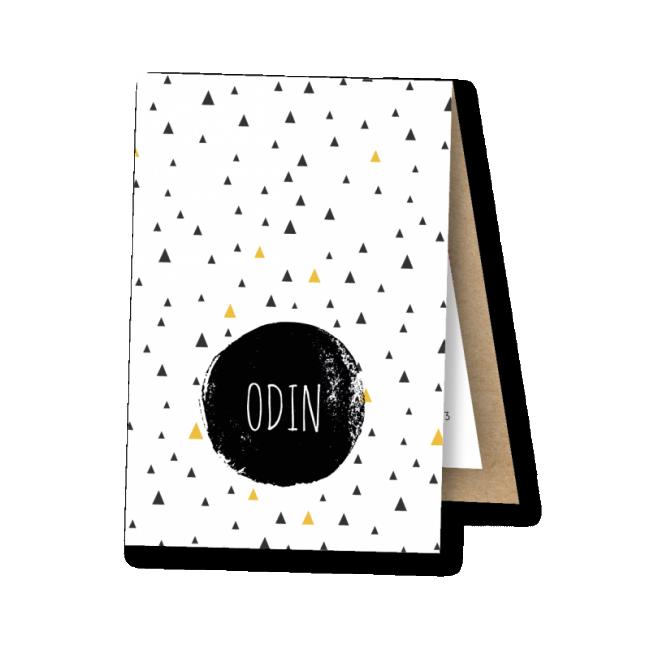 Geboortekaartje Label kaartje - Odin