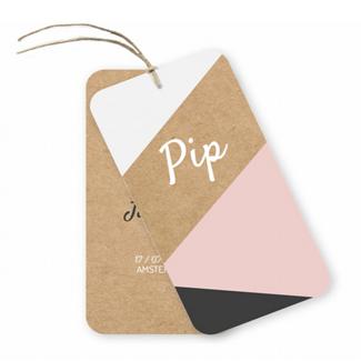 Geboortekaartje label kaartje - Pip