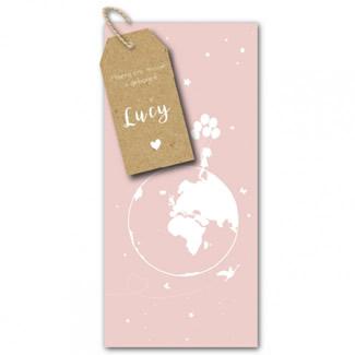 Geboortekaartje Label  |  wereld
