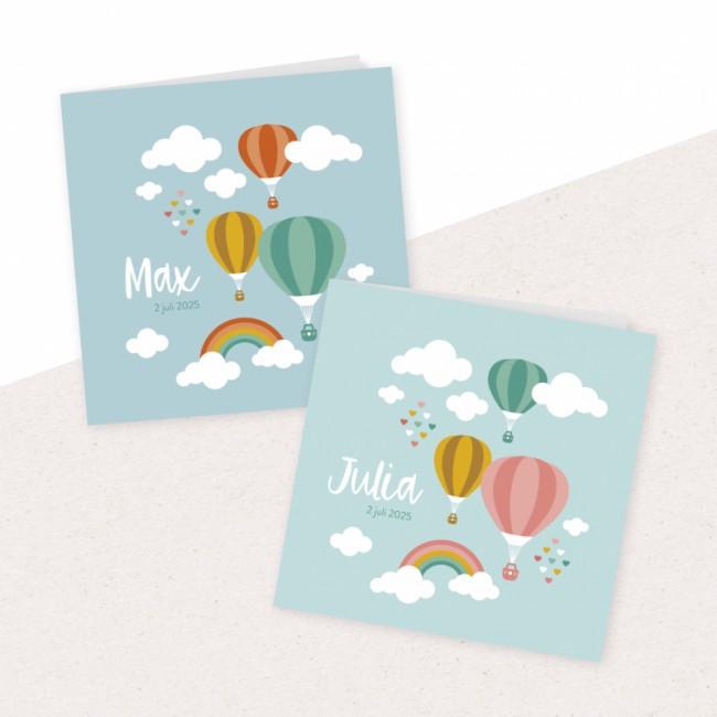 Geboortekaartje Luchtballonnen