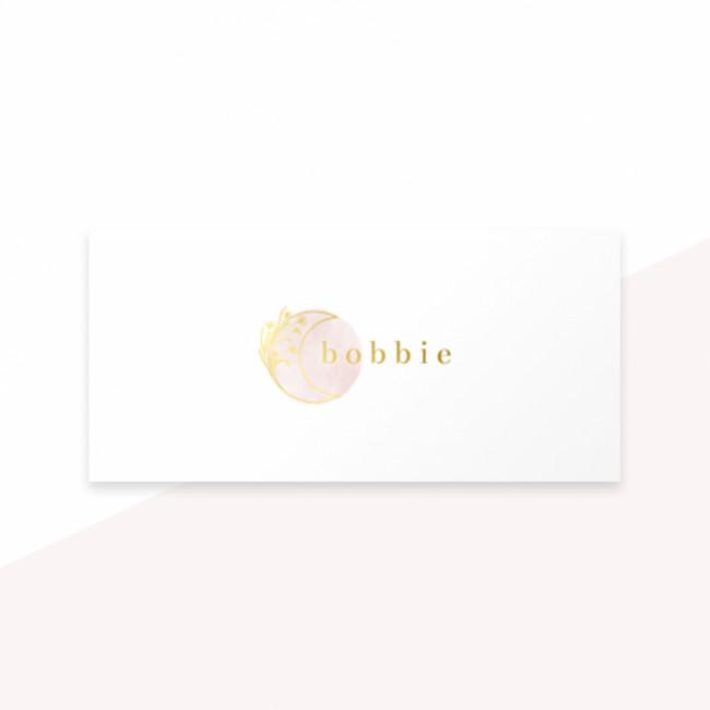 Geboortekaartje maan - bloemen - folie