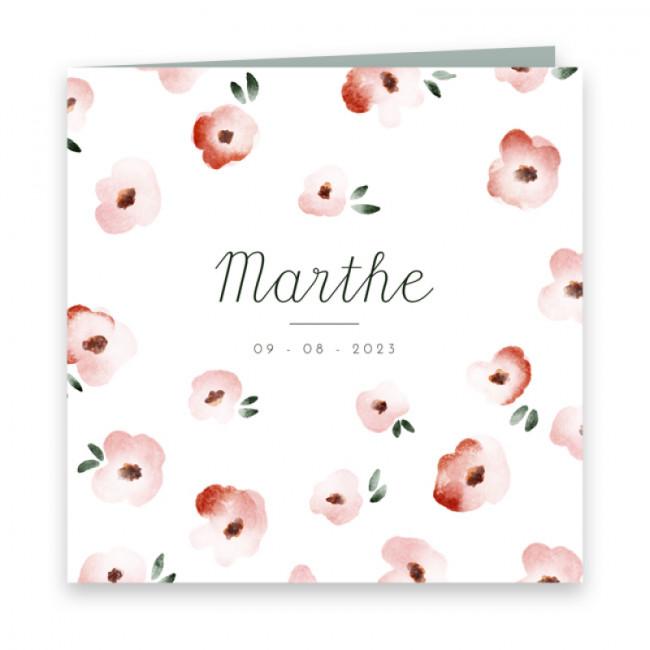 Geboortekaartje Marthe