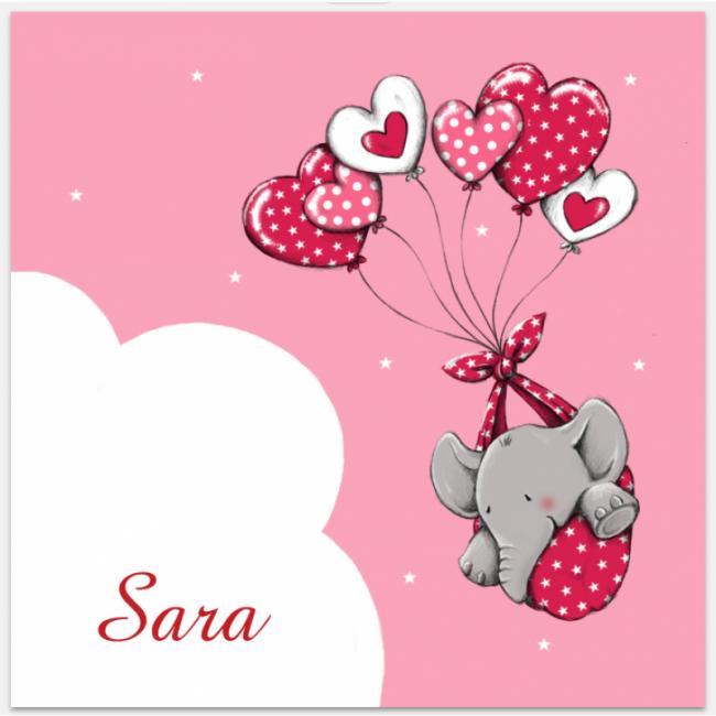 Geboortekaartje Meisje olifant