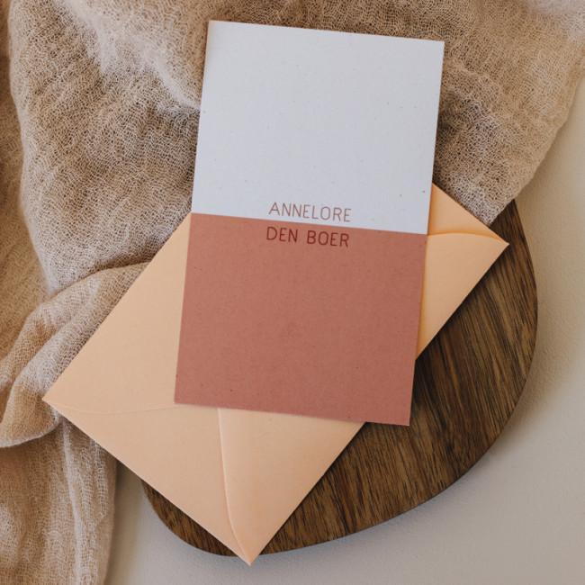 Geboortekaartje Minikaartje Colorblock