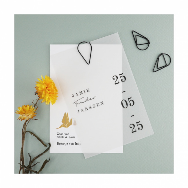 Geboortekaartje Minimalistisch, typografie