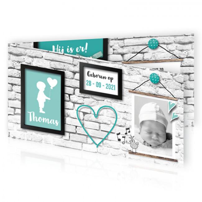 Geboortekaartje Muur lijsten