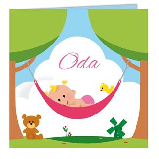 Geboortekaartje Oda