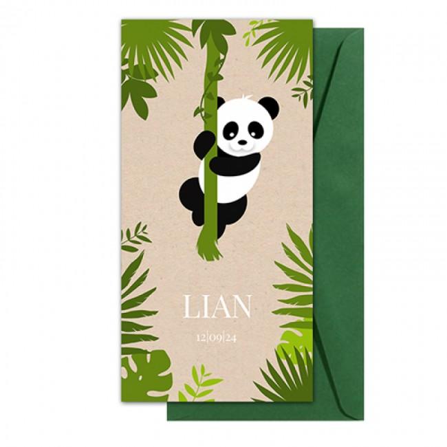 Geboortekaartje panda