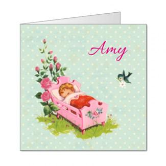 Geboortekaartje Roze wiegje