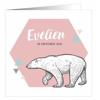 Geboortekaartje Scandinavische ijsbeer