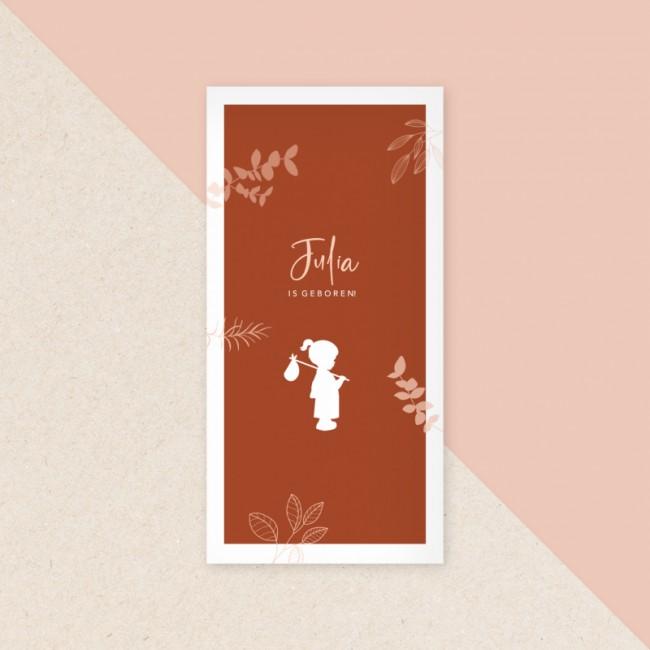 Geboortekaartje Silhouetje met knapzak