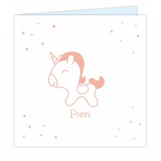 Geboortekaartje Unicorn Geboortekaartje