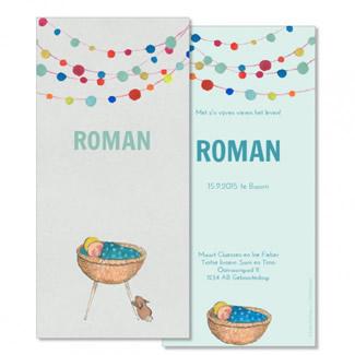 Geboortekaartje Welkom kindje!     Roman