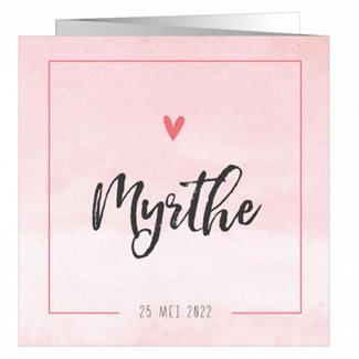 Geboortekaartje Zigzag roze met foto