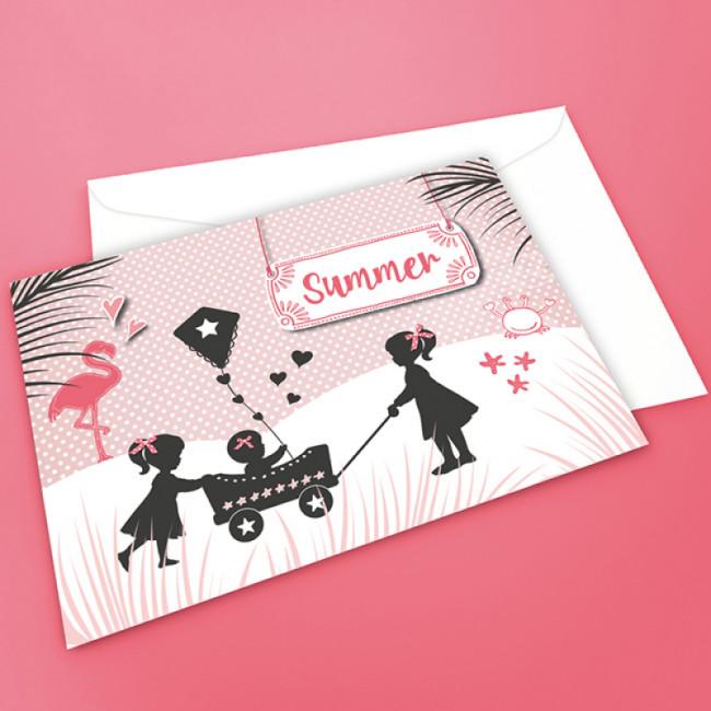 Geboortekaartje zomer