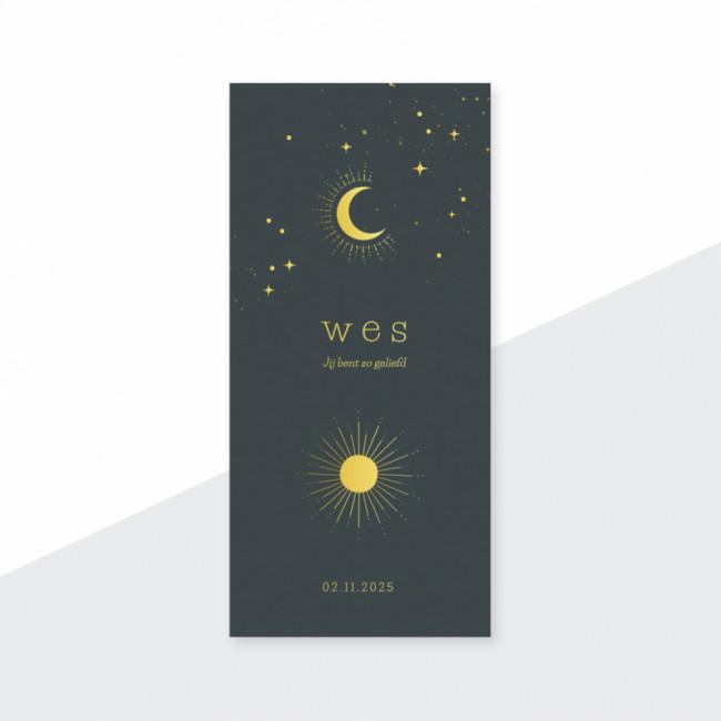Geboortekaartje zon - maan - sterren